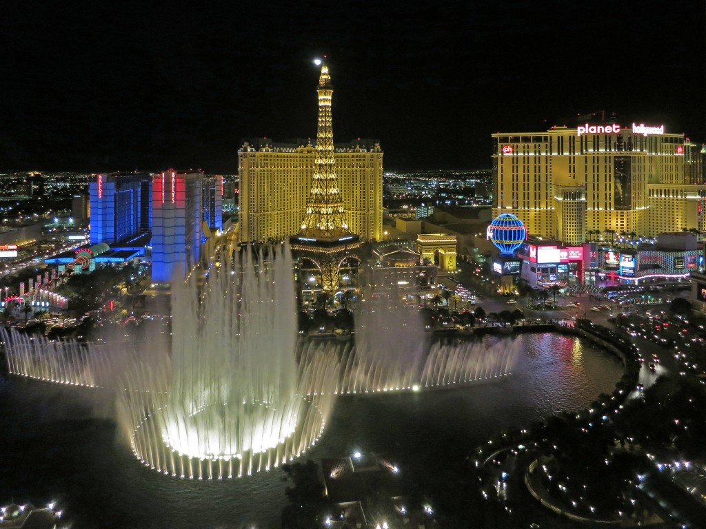Chuck Westfall-Bellagio Fountain at Night