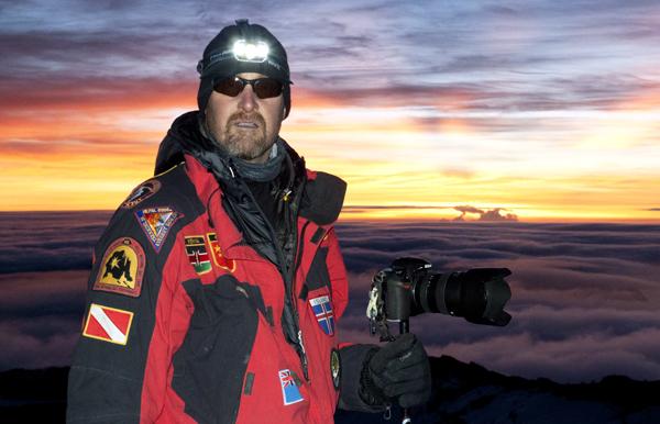 David on the summit of Mount Kilimanjaro