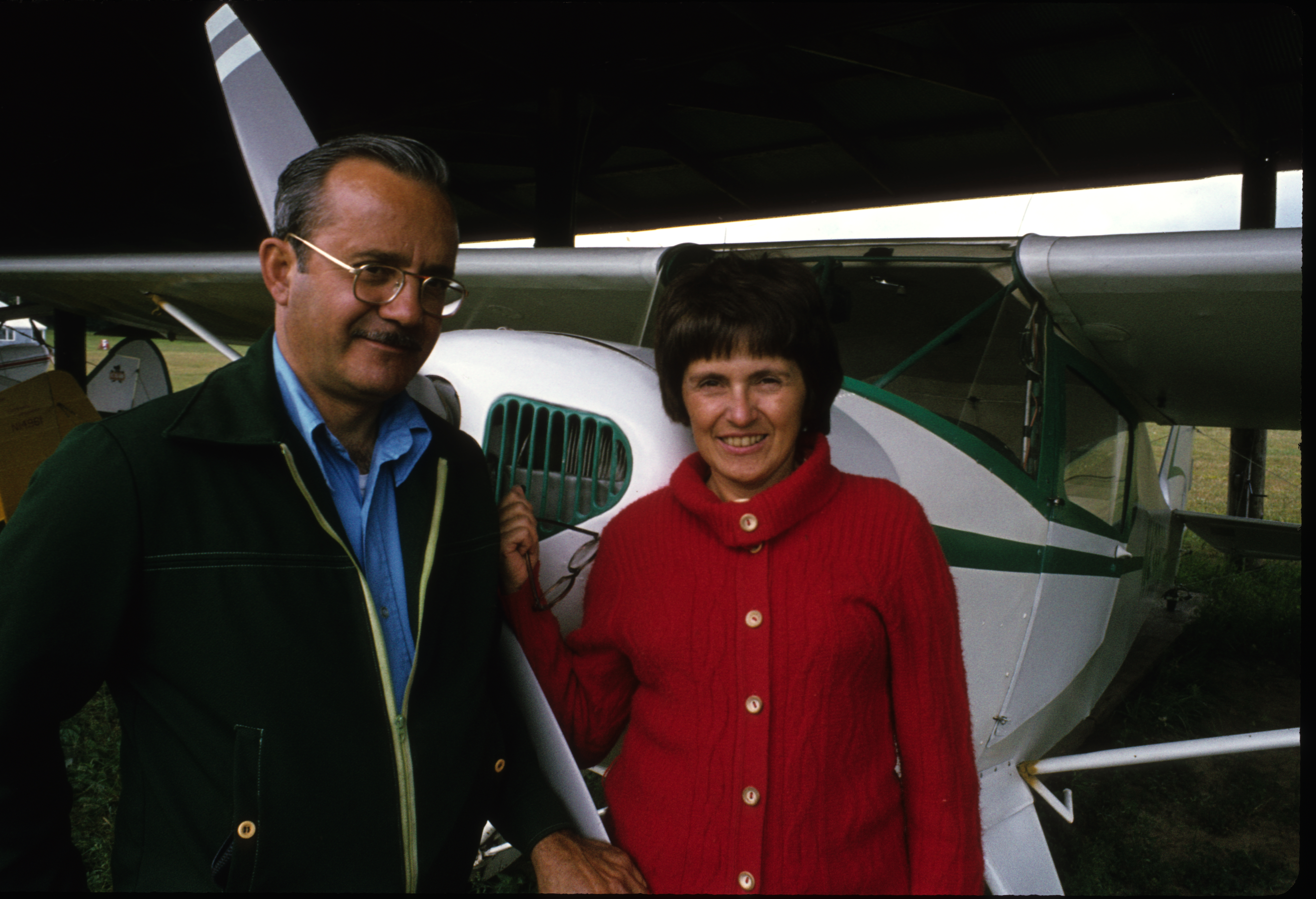 mom and dad with taylorcraft
